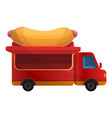 hot dog truck icon cartoon style vector image