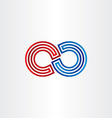 infinity symbol icon design vector image vector image