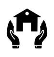 insurance glyph black icon vector image vector image
