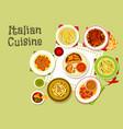 italian cuisine tasty dinner icon design vector image vector image