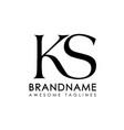 letters ks logo monogram vector image vector image