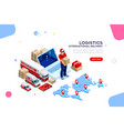 logistics of international delivery vector image
