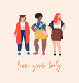 love your body flat plus size female