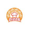 pizza-logo vector image vector image