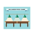 Playing billiard table concept vector image vector image