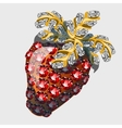 Red strawberry made of precious stones rubies vector image vector image