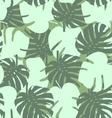 Seamless camouflage pattern of palm leaf green vector image vector image