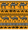 seamless pattern with camels vector image vector image