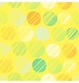 Seamless pattern with hand drawn polka dot vector image