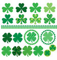 shamrocks with texture and patterns vector image vector image