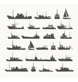 Ships set vector image vector image