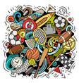 sport cartoon doodle funny art design vector image