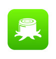 stump icon green vector image vector image