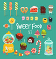 sweet fast food set vector image vector image