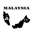 symbol of malaysia and map vector image vector image