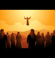 the ascension jesus vector image