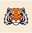 tiger mascot vector image vector image