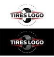 tires logo vector image vector image