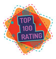 top 100 rating color banner quality vector image vector image