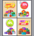 total sale best prices discount final offer labels vector image vector image