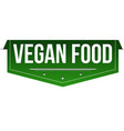 vegan food banner design vector image vector image