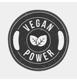 Vegan power gym vector image vector image