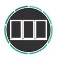 wardrobe computer symbol vector image