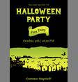 yellow halloween party roughen gradient greeting vector image vector image