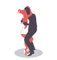 young couple dancing bachata merengue or latin vector image vector image