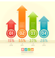 Infographics elements colorful arrow template vector image