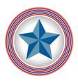 symbol of america star vector image