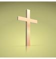 Golden cross symbol of the Christian vector image