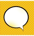 Speech Bubble Pop Art Background vector image