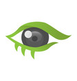 abstract eye design vector image vector image