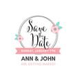 beautiful wedding invitation with flowers vector image