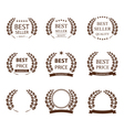 Best seller symbol set vector image