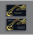 black and gold luxury abstract business card vector image vector image