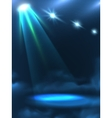 Blue Green Light Beam Background Banner vector image