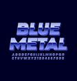 blue metal alphabet letters 3d font