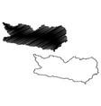 carinthia map vector image vector image