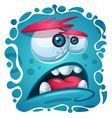 cartoon funny cute monster character halloween vector image vector image