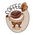 Cheerful coffee grain dances dance vector image