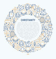 christianity concept in circle vector image vector image