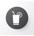 cocktail with lemon icon symbol premium quality vector image