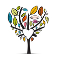 Colorful Abstract Heart Shaped Tree on White