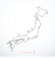 contour japan map vector image vector image