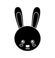 cute animal rabbit head baby vector image