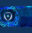cyber shield guard vector image vector image