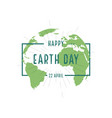 earth day for happy earth day in flat style 22 vector image vector image
