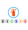 fire extinguisher rounded icon vector image
